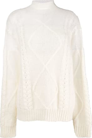 Knit Margiela Maison Sweater Sheer Blanc Cable vZwwaBqn