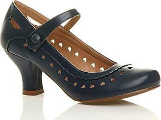 37 Schuhe 4 Größe Pumps Herzmuster Jane Absatz Feinmachen Mittlerer Ajvani Damen Mary Bx8Tw4BPvq