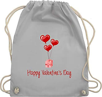 Shirtracer Luftballon Valentinstag Hellgrau Day Turnbeutel Unisize Herz amp; Valentines Wm110 Happy Bag Gym Geschenk HHxRYr