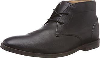 Para Clarks black Leather 5 Negro 41 Hombre Chukka Eu Botas Glide B4wq4RA