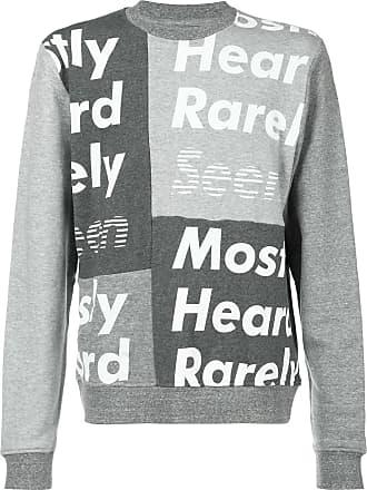 Mit Logo Mostly printGrau Rarely Seen Heard Sweatshirt xrCodeBW