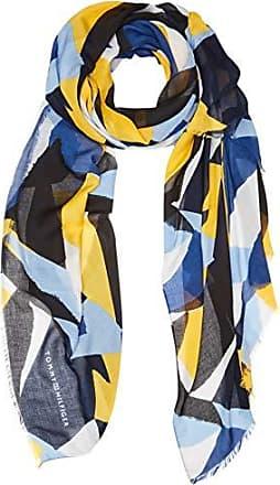 901 Tommy Única Colorblock Hilfiger Os Del Bufanda Para Printed Fabricante talla Mujer Scarf blue Mix Azul BBAwvqS