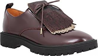 Vernis Lacets Femme Rock À Armistice Bordeaux Derby Chaussures 4qp7TBU