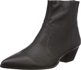 Cafe Leather Steve Eu 38 Madden Ankleboot 017 Mujer Botines Para black Negro fq5q8rw