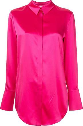 Roze Layeur Button Button Blouse Down Layeur qx7FzwxX
