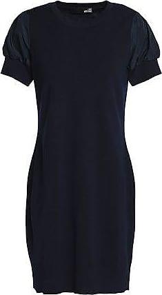 azul Moschino lana 40 Love de marino de talla Mini de vestido mujer g80Aw10fq