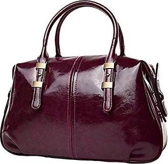 Wachs Leder Messenger Tasche Mode Handtasche Schultertasche onesize purple Tasche Gkkxue Öl kuZPiX