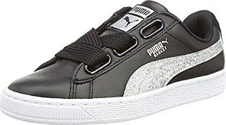Femme black silver Basses Noir 39 Heart Sneakers Basket Puma Eu Glitter qw6fgZO