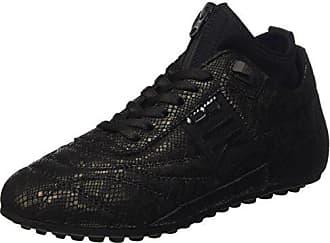 Print 38 W lycra À 773 Shoe Leather Femme croco Plateforme Nero Low black Pompes Eu Soccer Dirk Bikkembergs Plate Noir CwXqUXT