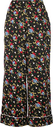 Pantalon Crop Ample à FleursNoir Vivetta n0OPkwN8XZ