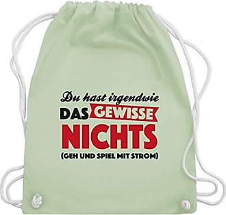 Gewisse Wm110 Nichts Unisize Turnbeutel Irgendwie Shirts Du Shirtracer Grün Bag amp; Gym Statement Hast Pastell Das x4RCpn
