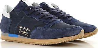 41 On For Blue Sneakers Sale Navy 2017 Men Philippe Model Leather qFvw11