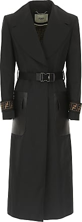 Fendi Polyester 44 Womens Black 2017 Coat 40 M qFvqSxw