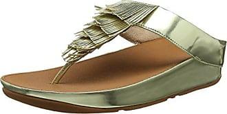 Cha Fitflop Metallic Dorado Fringe gold 41 Abierta thong 10 Con Mujer Toe Sandals Eu Para Sandalias Punta ww5prqgd