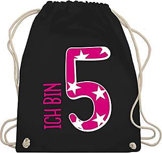 Bag Shirtracer Geburtstag Unisize 5 Wm110 Turnbeutelamp; Schwarz Bin Mädchen Rosa Gym KindIch Iyb7g6Yvf