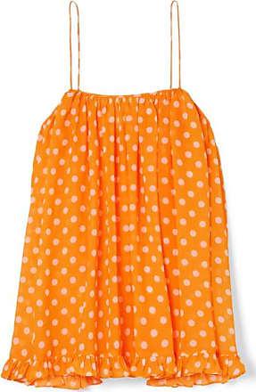 Und Orange Aus Mit Constas Rüschen Chiffon Polka Caroline Top dots 0wzEZ0