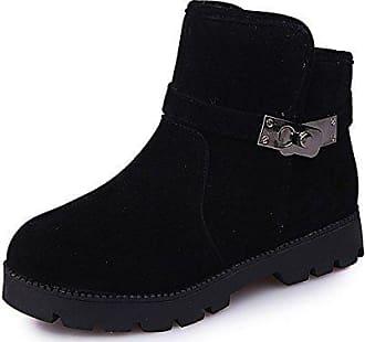 Mei Lsm Schnee Schuhe Schwarz 36 B stiefel Dicke Warme Unten Stiefel Frauen amp;s Freizeit g4SpqR