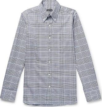 Tom Blue fit Shirt Midnight Checked Slim Cotton Ford down Button Collar vrZv8q