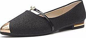 Lässig SchuheSchwarz38 Flache Pedal Schuhe Kleidung Spitze Damenschuhe Yuch Locker Ein fy7b6gY