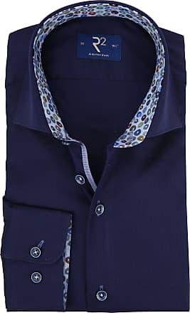 R2 Hemden Oxfort Hemd Blau Dunkel Nn0OPX8wk