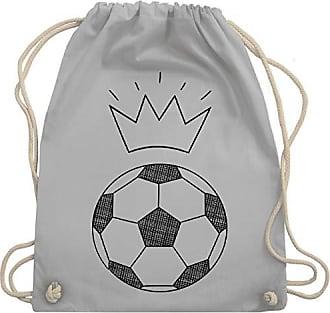 Skizze Hellgrau Shirtracer Krone amp; Fußball Wm110 Turnbeutel Bag Gym Unisize Mit H557w