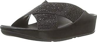 Fitflop Punta black 001 Mujer Slide Crystall Abierta Sandalias Con 38 Negro Eu Para r6qrIwzc