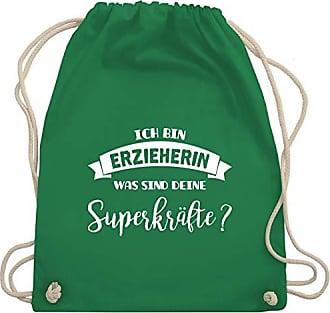 amp; Berufe Sonstige Superkräfte Sind Wm110 Ich Erzieherin Turnbeutel Grün Was Bag Gym Deine Shirtracer Bin Unisize UROSqaww