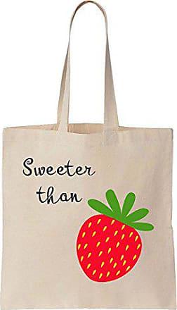 Baumwoll Stawberry Segeltuch Finest Than Sweeter Prints Tote Bag Einkaufstasche tBwYSq