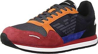 Armani Pino Sneaker rot 42 Low Schwarz Mens Emporio FxWO7gg