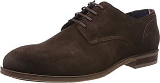 Cordones De Eu ShoeZapatos Tommy Suede Hilfiger Casual HombreMarróncoffee Para Dress Bean 21243 Oxford dthsQCxr