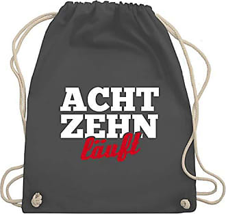 Gym Shirtracer Bag amp; Unisize Turnbeutel Läuft 18 Wm110 Dunkelgrau Geburtstag 8rq8Hp