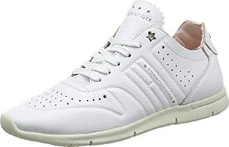 Basses Sneaker Leather 100 Tommy Femme Sneakers 37 Blanc Eu white Weight Light Hilfiger R1wxT