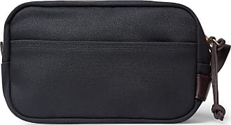 canvas trimmed Wash Bag Cotton Leather Navy Filson aqwcT6ZS7c