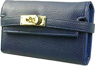 Navy Kukubird Strap Bag Party Clutch Prom Clasp Wallet Turn Purse Blue qBRrzq
