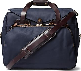 Briefcase Twill Filson trimmed Leather Navy PqnwxUtF