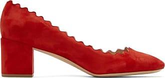 Suede Lauren En Chaussures Rouges Hauts A Talons Chloé wqPZfXP