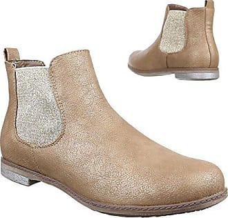 Gr Gold Ital Boots Stiefeletten pg Chelsea Blockabsatz Moderne 37 schuhe 51077 design Damen wfra8Tqzw