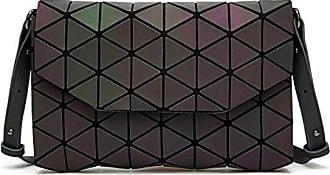 Raute Diagonal Chengxiaoxuan luminous Umschlag Laser Leuchtende onesize Klapp Tasche Dreieckige Japanisch Handtaschen Schulter Damen Paket Oq0rFqXx