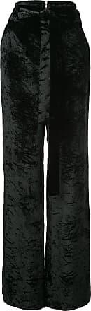 Crushed Proenza Wide Noir Velvet Leg Schouler Pants pp0rq5