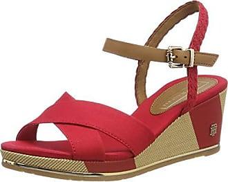 Mid Printed Mujer Wedge Rojo Eu Red 37 Plataforma Sandal tango Para Tommy Sandalias Con Hilfiger 611 nfRaxFU