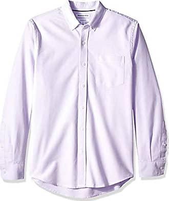 Pocket Slim 4xl Xxl eu fit Amazon Long Freizeithemd Violett sleeve lavender Xxxl Lav Solid Essentials Us Oxford Shirt YAAw54