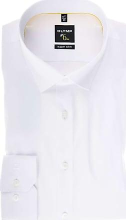 Super No Einfarbig Six Hemd Weiss Slim Olymp gExaBn11