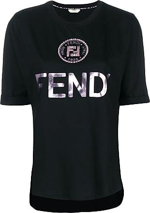 Embellished Fendi Noir T Ff shirt Logo TZ4qwR