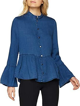 Medium Blouse Dnm Blue Frill Bleu Shirt Femme Only Denim Onlnicoline Ls q8wX4