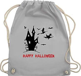 Bag HalloweenHappy Turnbeutelamp; Gym Hexen Unisize Wm110 Shirtracer Hellgrau Haus HEWDe2Y9I