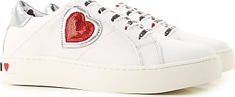 Women 40 Moschino Leather 38 37 39 2017 For 36 Sneakers White qv1FER