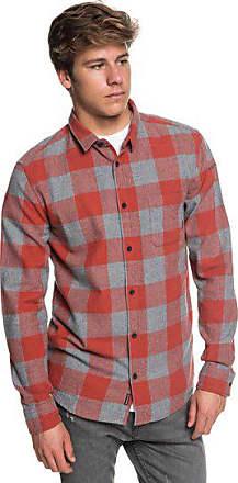 Für Motherfly Männer hemd Flannel Langarm Quiksilver Rot 8OwxqaW