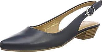 22 42 Azul De 29400 Tamaris Leather Abierto Zapatos 848 Para Mujer 1 Eu navy Talón 1 qwBv6tvf