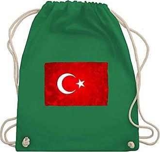LänderFlagge Turnbeutelamp; Unisize Grün Bag Wm110 Shirtracer Gym Türkei Yf6gvyb7
