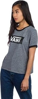 Tangle Black Grey T Heather shirt Vans Ring HA5qwaaS